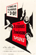 """Movie Posters:Comedy, The Three Stooges in Spooks! (Columbia, 1953). One Sheet (27"""" X41"""") 3-D Style.. ..."""