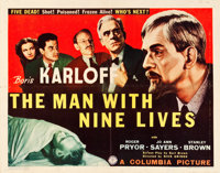 "The Man with Nine Lives (Columbia, 1940). Half Sheet (22"" X 28"")"