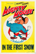 """Movie Posters:Animation, Mighty Mouse (20th Century Fox, 1947). Stock One Sheet (27"""" X 41"""") """"In the First Snow."""" Animation.. ..."""