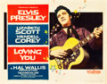 "Movie Posters:Elvis Presley, Loving You (Paramount, 1957). Half Sheet (22"" X 28"").. ..."