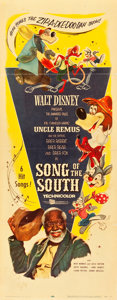 "Movie Posters:Animation, Song of the South (Buena Vista, R-1956). Insert (14"" X 36"").. ..."