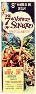 """Movie Posters:Fantasy, The 7th Voyage of Sinbad (Columbia, 1958). Insert (14"""" X 36"""").. ..."""