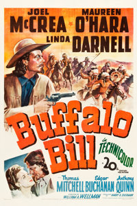 "Buffalo Bill (20th Century Fox, 1944). One Sheet (27"" X 41""). Western"