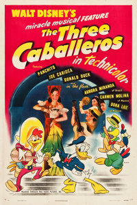 """The Three Caballeros (RKO, 1945). One Sheet (27.25"""" X 41"""") Style A"""