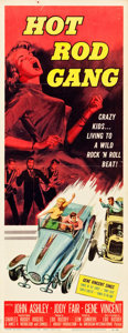 "Movie Posters:Exploitation, Hot Rod Gang (American International, 1958). Insert (14"" X 36"")....."