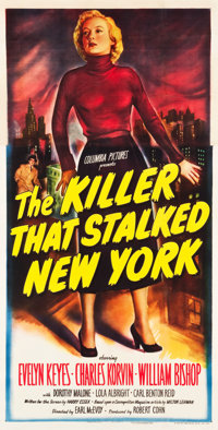 "The Killer That Stalked New York (Columbia, 1950). Three Sheet (40.5"" X 79"")"