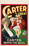"""Movie Posters:Miscellaneous, Carter the Great (c.1928). Window Card (14"""" X 22"""") """"Carter Beats the Devil."""". ..."""