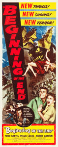 """Movie Posters:Science Fiction, Beginning of the End (Republic, 1957). Insert (14"""" X 36"""").. ..."""