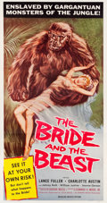 """Movie Posters:Horror, The Bride and the Beast (Allied Artists, 1958). Three Sheet (41"""" X 77.5"""").. ..."""