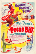 "Movie Posters:Animation, Pecos Bill (RKO, R-1954). One Sheet (27"" X 41"").. ..."