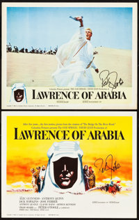 """Lawrence of Arabia (Columbia, 1962). Autographed Title Lobby Card and Lobby Card (11"""" X 14""""). ... (Total: 2 It..."""