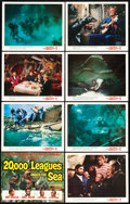 "Movie Posters:Science Fiction, 20,000 Leagues Under the Sea (Buena Vista, 1954). Lobby Card Set of8 (11"" X 14"").. ... (Total: 8 Items)"