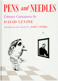 Books:Art & Architecture, [John Updike, editor]. David Levine. SIGNED/LIMITED. Pens and Needles. Literary Caricatures. Boston: Gambit, 1969. F...