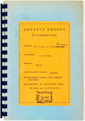 Books:Literature 1900-up, John Updike. ADVANCE UNCORRECTED PROOF. Midpoint and OtherPoems. New York: Knopf, 1969. First edition. Original wra...