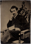 Photography:Tintypes, John Wilkes Booth: Half Plate Tintype....