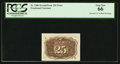 "Fractional Currency:Second Issue, Fr. 1286 25¢ Second Issue Inverted ""S"" PCGS Gem New 66.. ..."