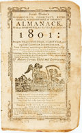 Books:Americana & American History, [Almanac]. Isaiah Thomas's Almanack for the Year of Our Lord1801. Worcester: Isaiah Thomas, [1801]. Self-wrappers, ...