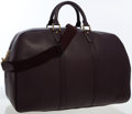 Luxury Accessories:Bags, Louis Vuitton Mahogany Taiga Leather Kendall 45 Weekender Bag. ...