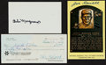 Autographs:Others, Baseball Stars and HoFers Autographed Trio (3). ...