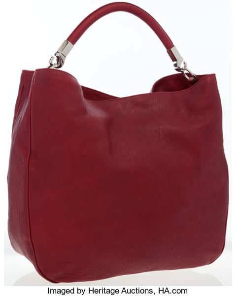 6d4f8c4e73f Luxury Accessories Bags, Yves Saint Laurent Red Leather Roady Hobo Bag.