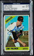Autographs:Sports Cards, Signed 1966 Topps Jim Palmer Rookie #126 PSA/DNA NM-MT 8....