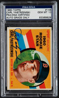 Autographs:Sports Cards, Signed 1960 Topps Carl Yastrzemski #148 PSA/DNA Gem MT 10. ...