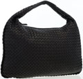 Luxury Accessories:Bags, Bottega Veneta Black Intrecciato Nappa Leather Large Veneta HoboBag. ...