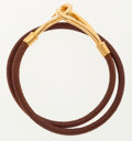 Luxury Accessories:Accessories, Hermes Natural Bridle Leather Jumbo Double Tour with Gold Hardware....