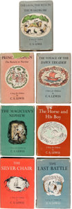 Books:Children's Books, C. S. Lewis. The Chronicles of Narnia. New York: The MacmillanCompany, 1950-[1956]. First American editions. Titles inclu...(Total: 7 Items)
