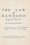Books:Literature 1900-up, Elmore Leonard. The Law at Randado. Boston: HoughtonMifflin, 1955. First edition, first printing. With a later in...