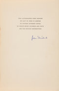 Books:Literature 1900-up, John Steinbeck. East of Eden. New York: The Viking Press,1952. First edition, one of 1,500 copies signed by Stein...