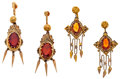 Estate Jewelry:Lots, Lot of Citrine, Glass, Gold Filled Earrings. ... (Total: 2 Items)