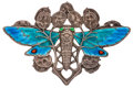 Estate Jewelry:Brooches - Pins, Enamel, Silver Brooch. ...
