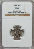 Proof Three Cent Nickels: , 1883 3CN PR66 NGC. NGC Census: (294/84). PCGS Population (360/69).Mintage: 6,609. Numismedia Wsl. Price for problem free N...