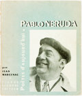 Books:Biography & Memoir, [Pablo Neruda, subject]. Jean Marcenac. Pablo Neruda.France, 1954. Twelvemo. 221 pages. Original wrappers, rubbed a...
