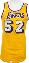 Basketball Collectibles:Uniforms, 1977-79 Jamaal Wilkes Game Worn Los Angeles Lakers Jersey, MEARSA10....