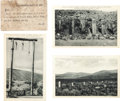 Miscellaneous:Postcards, Postcards: Four Hanging Related Montana Scenes. ...