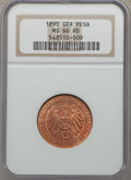 German East Africa, German East Africa: German Colony Pesa 1890 MS66 Red NGC,...