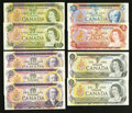 Canadian Currency: , A Large Group of Nine Canadian Replacement Notes from the 1969-1975Issues.. ... (Total: 9 notes)