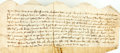 Books:World History, Indenture of Lease in the Reign of Richard II. [England], March,22nd, 1384. Beautifully inscribed, text in Latin. Conve...