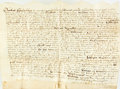 Books:World History, Indenture of Lease in the Reign of Elizabeth the First. [England], August 15th, 1573. Beautifully inscribed, text in Latin....