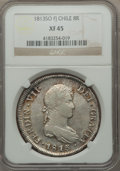 Chile, Chile: Ferdinand VII 8 Reales 1813 So-FJ XF45 NGC,...