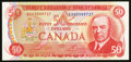 Canadian Currency: , BC-51bA $50 1975 Replacement Note. ...