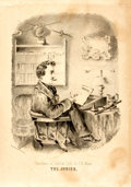 Books:Prints & Leaves, J.N. Mead. Original Black and White Lithograph Entitled, TheJunior. From a series entitled, Sketches of College L...