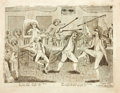 Books:Prints & Leaves, [Political Cartoon]. [Artist Unknown]. Original Black and WhiteEngraving Entitled, Congressional Pugilists. [Ph...