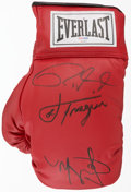 Boxing Collectibles:Autographs, Jones, Cotto and Frazier Multi Signed Glove. ...