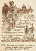 Miscellaneous:Ephemera, [Henry Charles Fox]. Original Unused Ticket for an Art Exhibit Entitled, XII Miles Round Saint Paul's a Series of Sketch...