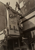 Photographs, BERENICE ABBOTT (American, 1898-1991). Celastic Plastic Shop, circa 1947. Early gelatin silver. 8-3/4 x 6-1/8 inches (22...