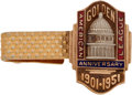 Baseball Collectibles:Others, 1951 American League 50 Years Tie Clasp Presented to Irish Meusel....
