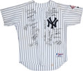 Baseball Collectibles:Uniforms, 2003 Jim Leyritz Old Timer Game Worn Jersey Signed by Several....